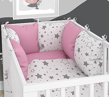 Tour de lit – Six coussins en velours pour lit bébé 60 x 120 cm