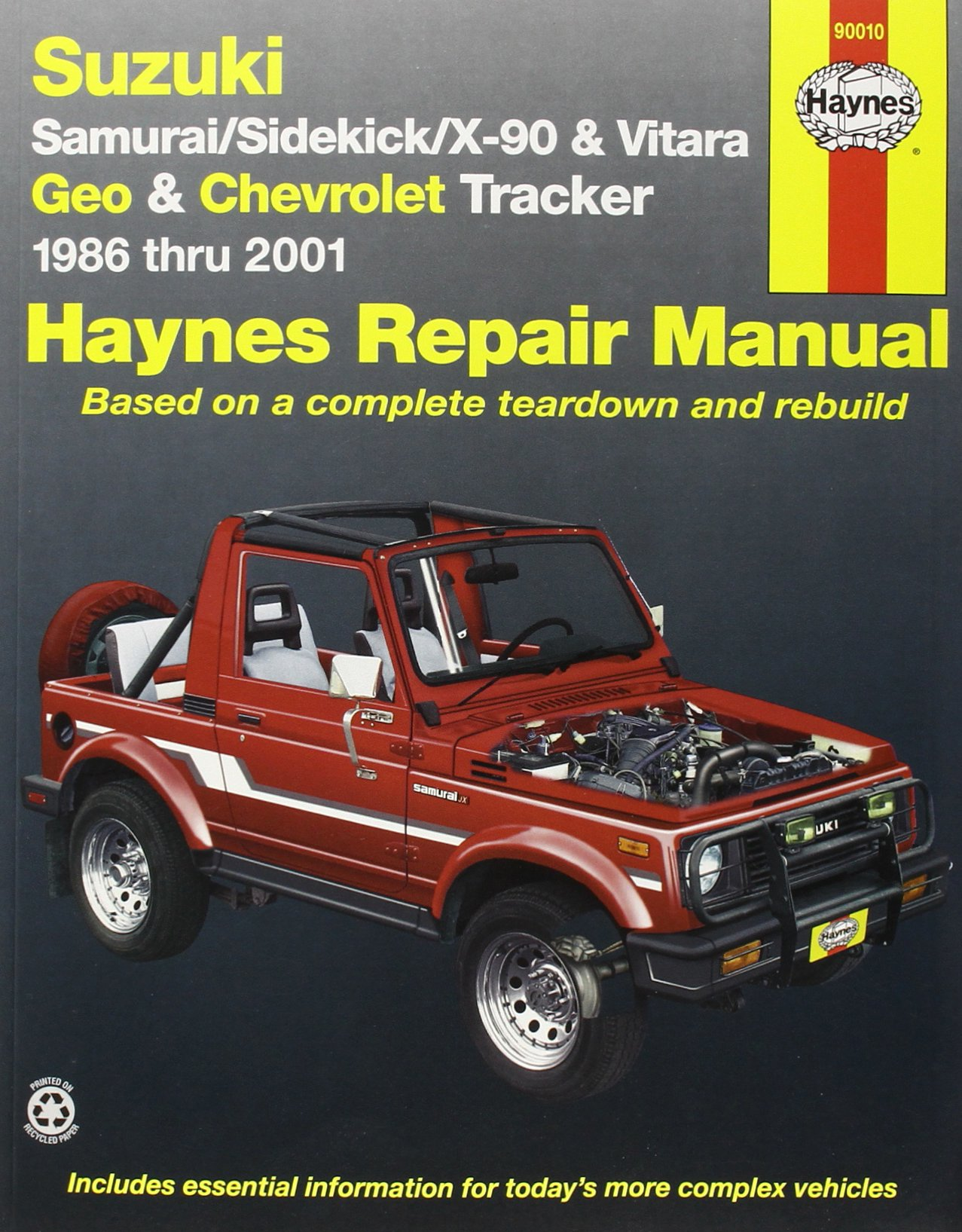 Suzuki Samurai Sidekick X 90 Geo Chevrolet Tracker 1986 Thru 96 Wiring Diagram 2001 All 4 Cylinder Models Haynes Manuals John Books