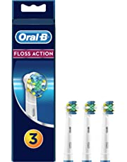 Oral B Floss Action Replacement Brush Heads Refill, 3Count