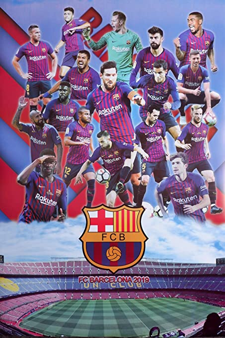 daeb3a210 Amazon.com: Maxis Barcelona 2019 Football Soccer Wall Decoration ...