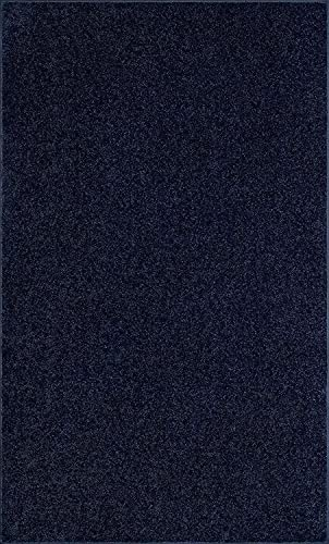 Cool Home Our Space Collection Solid Color Area Rugs navy-8×10