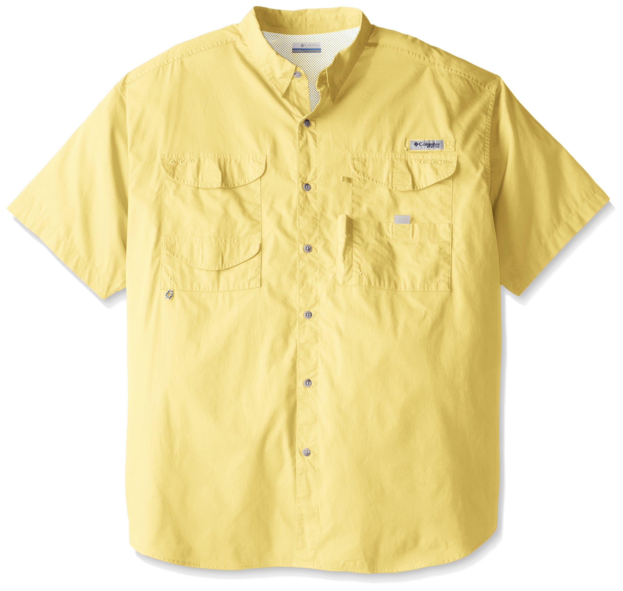 Columbia Men's Bonehead Short Sleeve Shirt, Sunlit, X-Small