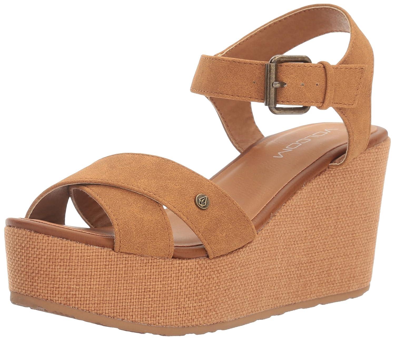 Volcom Women's Stone Platform Wedge Sandal B01I5JDB62 7.5 W US|Cognac