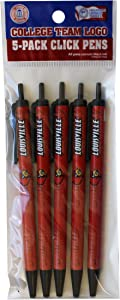 NCAA Louisville Cardinals Disposable Click Pens