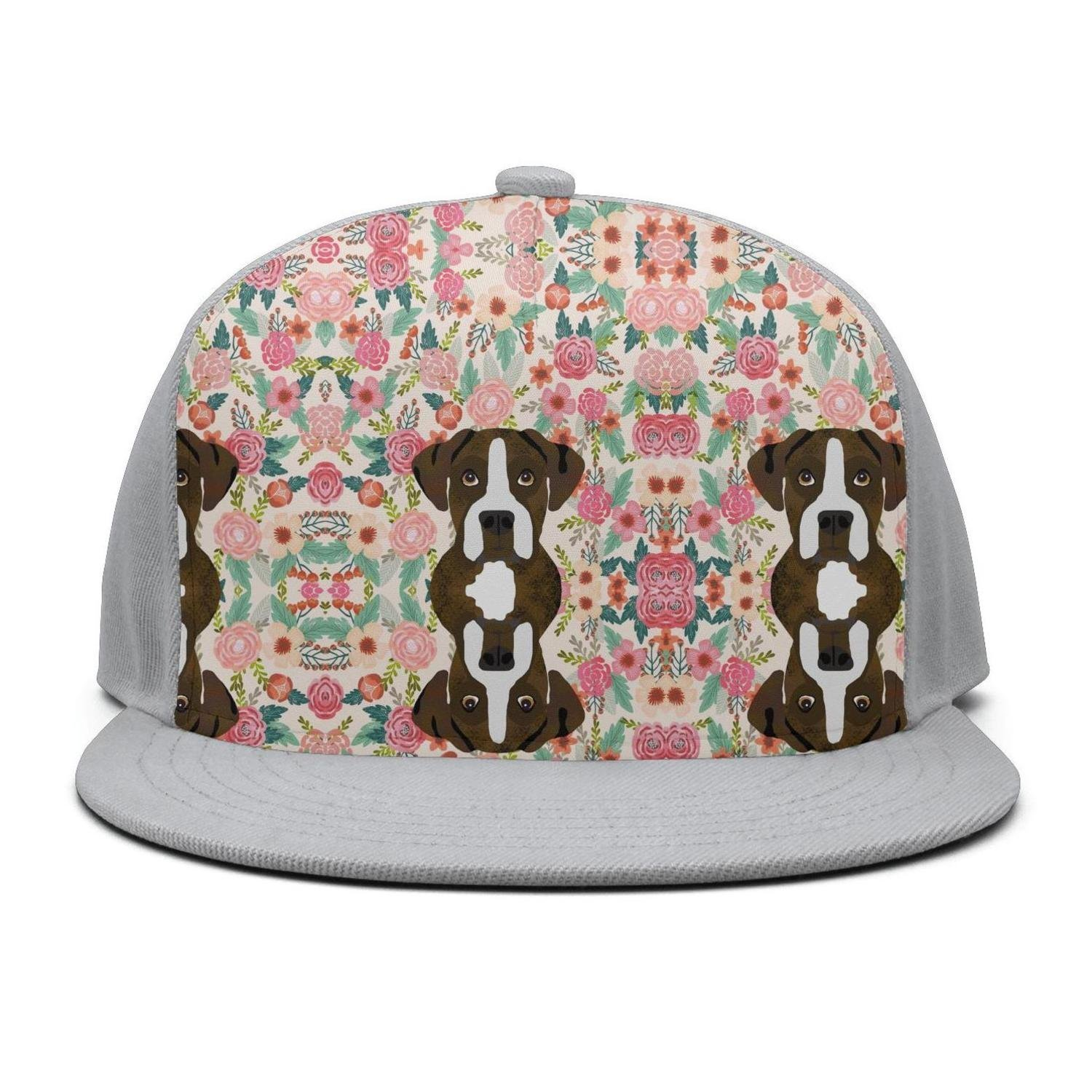 35f411749b1 Trum Namii Unisex dri fit Cap Boxer Dogs Floral Flower Baseball Cap for  Women at Amazon Men s Clothing store