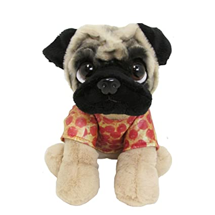 Amazoncom Doug The Pug Pizza Shirt Large Baby Plush Toys Toys Games