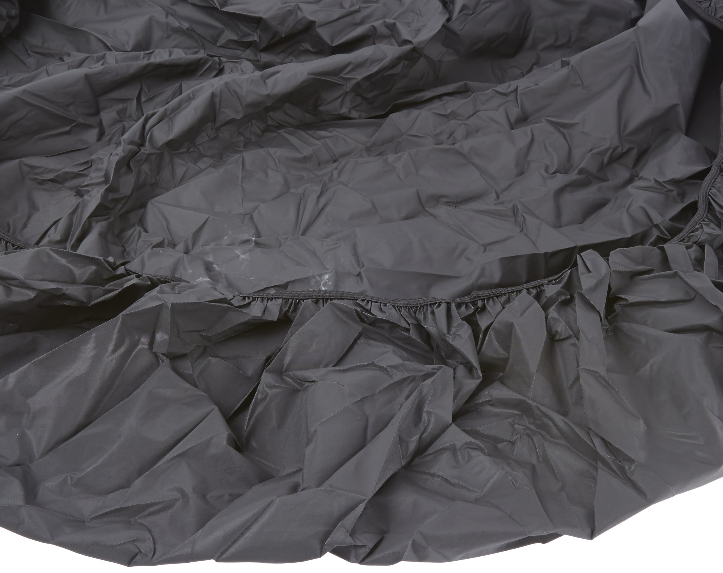 Kwik-Cover 72-BLK 72'' Round Kwik-Cover Black Fitted Table Cover (1 full case of 50)
