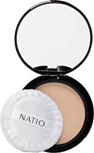 Natio Pressed Powder, Light, 15g
