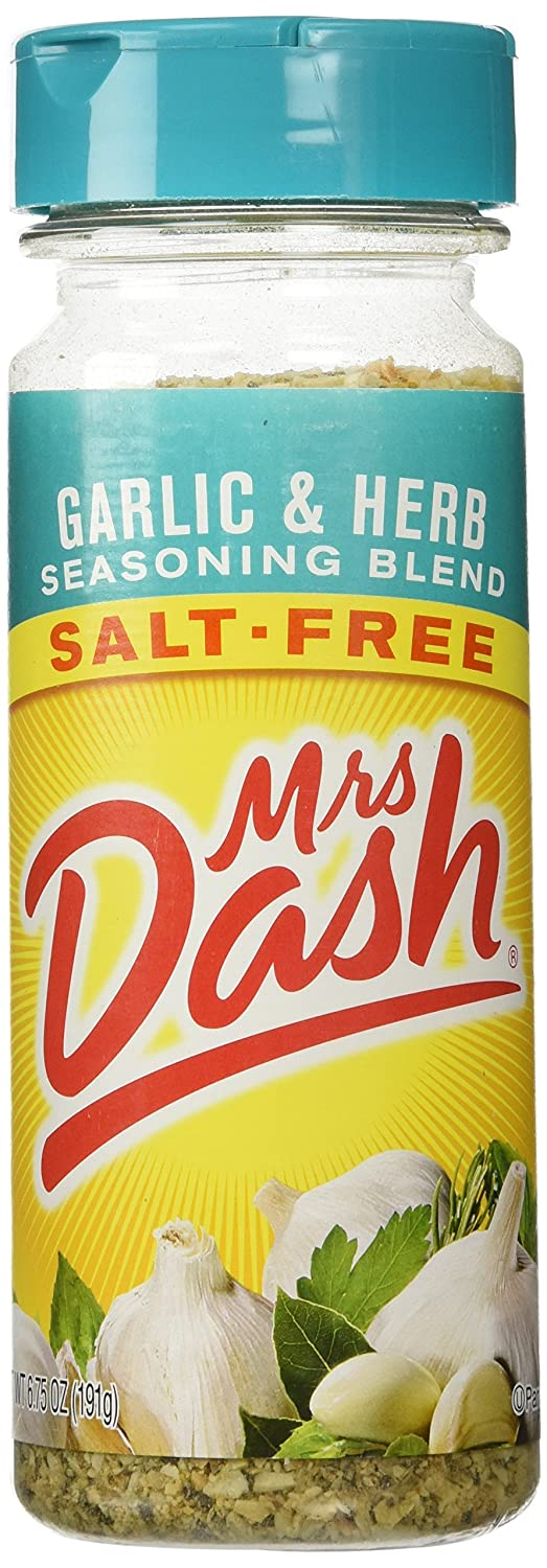 Mrs Dash Garlic & Herb Salt Free Blend, 6.75-ounce