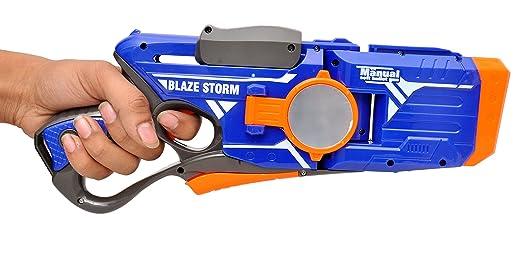 Toyshine Multi-Directional Gizmo Foam Blaster Gun Toy, Safe and Long Range, 10 Bullets Blasters & Toy Guns at amazon