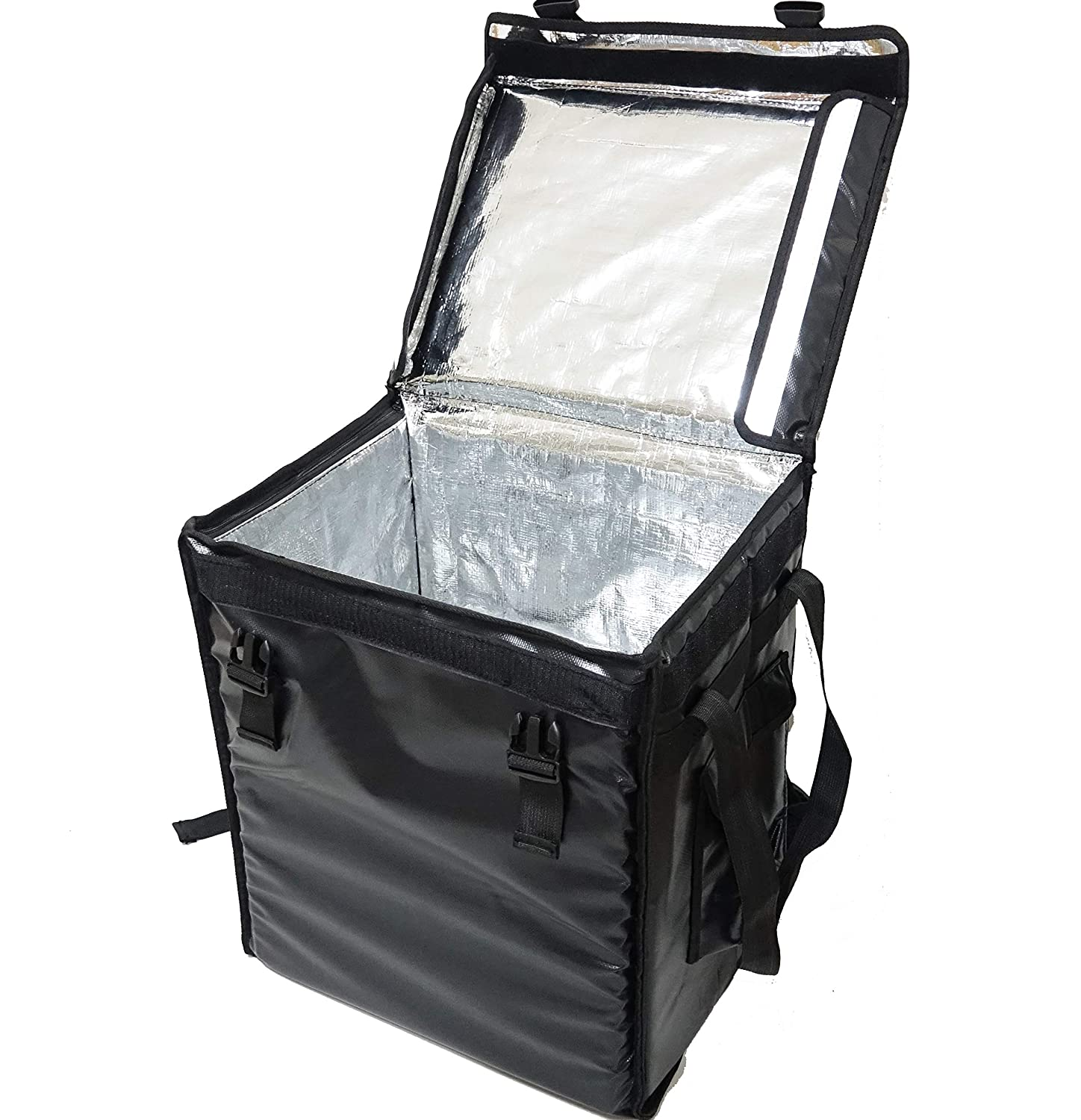 """PK-66V: Middle Food Delivery Backpack,16"""" L x 12"""" W x 18"""" H, Top Loading, Insulated Pizza Delivery Bag, Food Delivery Backpack, Thermal Delivery Bag, Pizza Delivery Backpack, Matte Waterproof"""