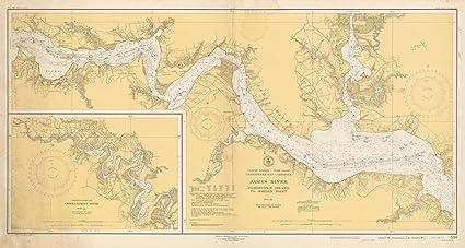 Amazon.com: Coastal Charts - Mathison Collection, Virginia: James R ...