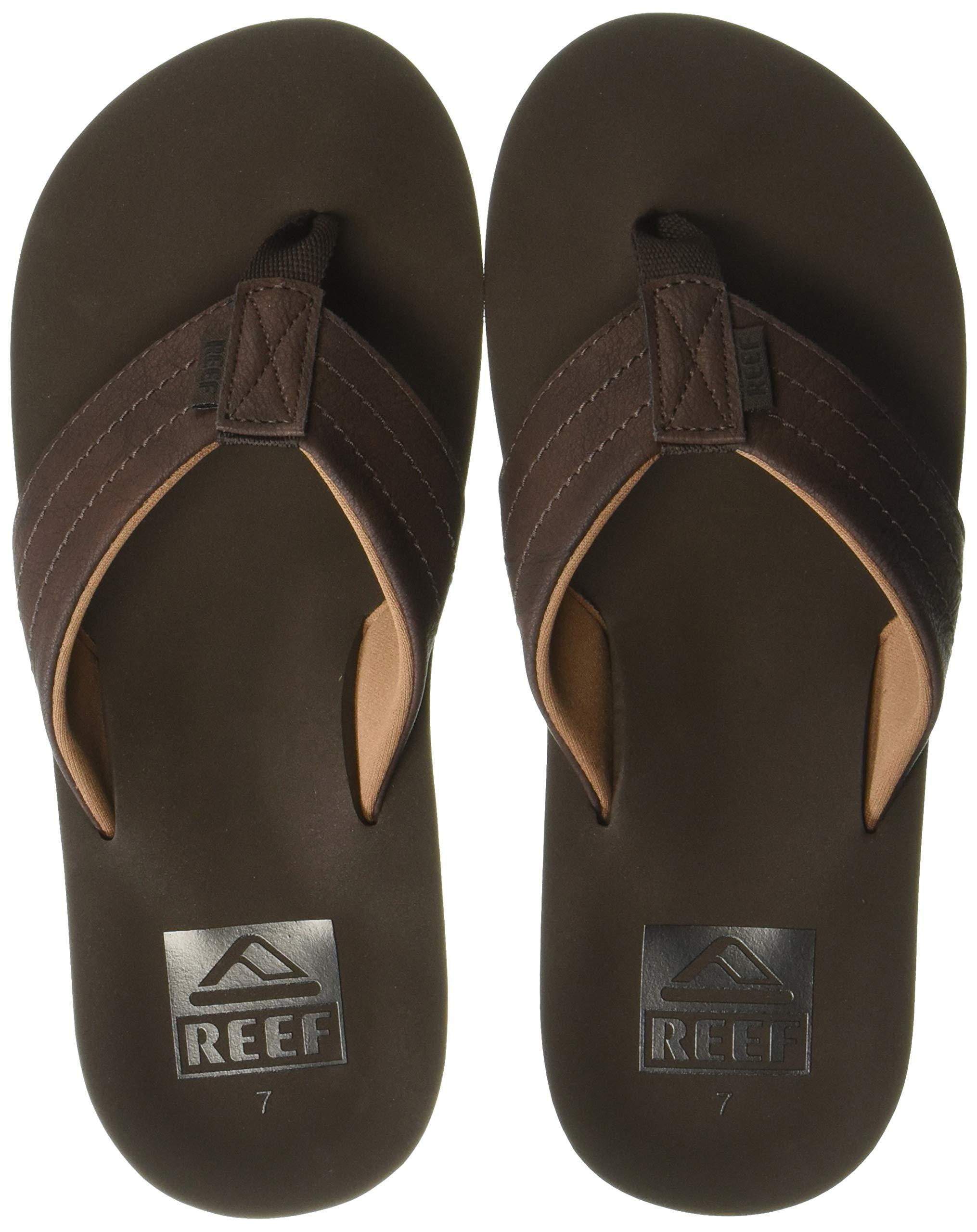 Reef Men's TWINPIN LUX Sandal, Brown, 080 M US