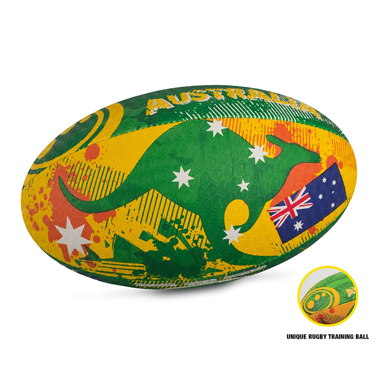 Optimum, Pallone da rugby, motivo: Australia, Multicolore (Australia), 4