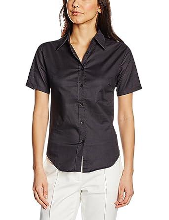 43f9b320b Fruit of the Loom Women's Oxford Short Sleeve Shirt: Amazon.co.uk ...