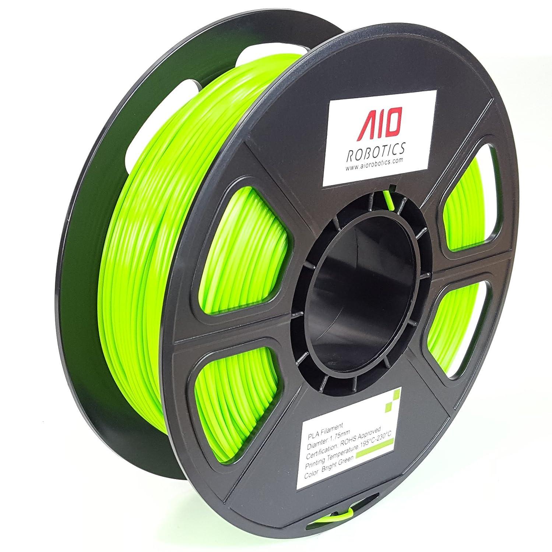 AIO Robotics Premium 3D Drucker Filament, PLA, 0.5 kg Spule, Genauigkeit +/- 0.02 mm, Durchmesser 1.75 mm, Hellgrün