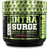 INTRASURGE Intra Workout Energy BCAA Powder - 6g BCAA Amino Acids, Natural Caffeine, 4g Citrulline Malate, and More for Muscl