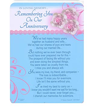 Wedding anniversary memorial