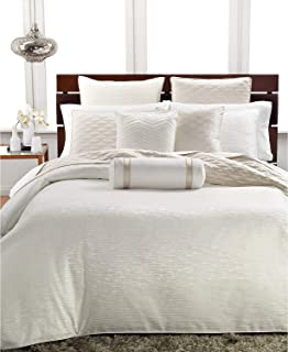 Hotel Collection Woven Texture King Duvet Cover Ivory