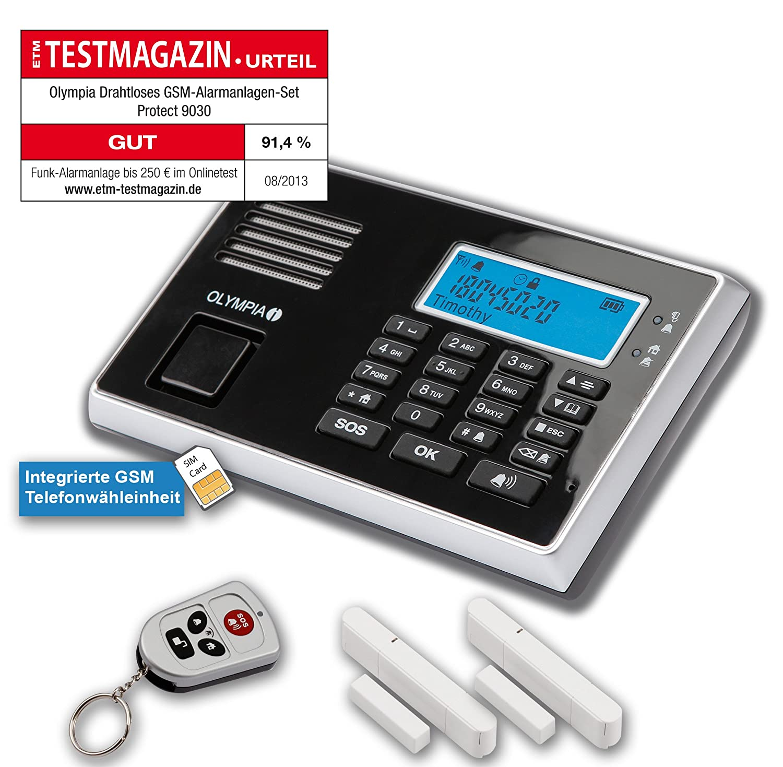 Olympia 5903 Protect 9030 Juego de dispositivo de alarma inalámbrico (Función GSM): Amazon.es: Bricolaje y herramientas