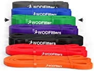 WODFitters Pull Up Assistance Bands - Stretch Resistance Band - Mobility Band - Powerlifting Bands, Durable Workout/Exercise