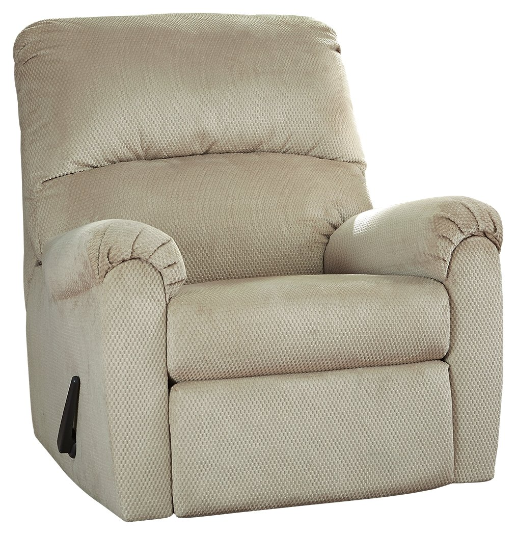 Amazon com ashley bronwyn swivel glider recliner in sand kitchen dining