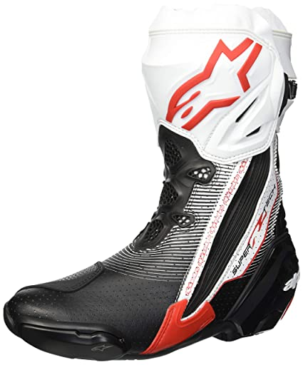 Alpinestars Supertech R Motorcycle Racing BOOTS Black White