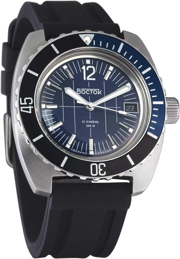 Amazon.com: Vostok Amphibian Scuba Dude Automatic Mens Wristwatch Self-Winding Military Diver Amphibia Ministry Case Wrist Watch #710059 (170865): Watches