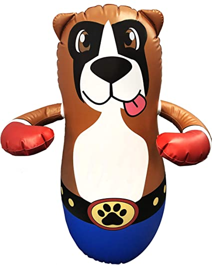 Taylor Toy Inflatable Punching Bag for Kids - Free-Standing Bounce Back Punching Bag - Bop Bag