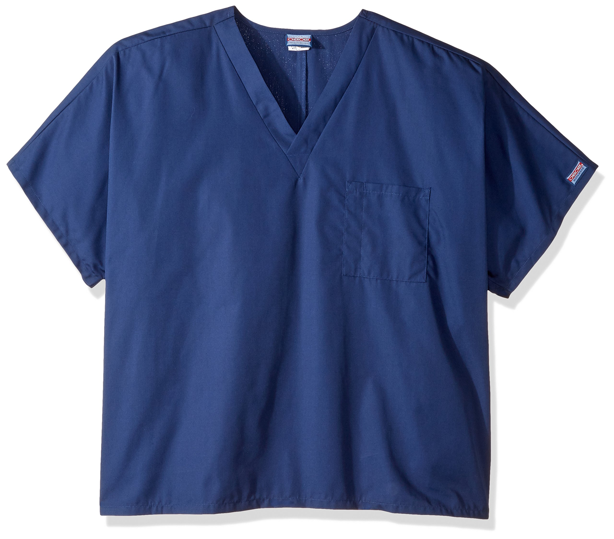 Cherokee Workwear Originals Unisex V-Neck 1-Pocket Solid Scrub Top Xx-Large Navy