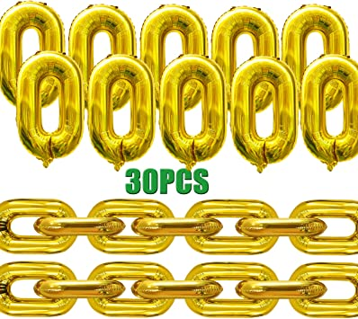 "16/""Inch Chain Link Balloons 7pcs Birthday Wedding Hip Hop Party Decoration Balon"