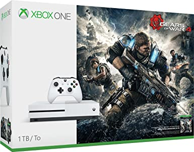 Microsoft Xbox One S Gears of War 4 Bundle 1TB 1000GB Wifi Blanco - Videoconsolas (