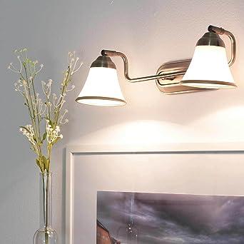 Dekorative 2er Badleuchte in Bronzeoptik IP20 2x E14 Spiegellicht ...