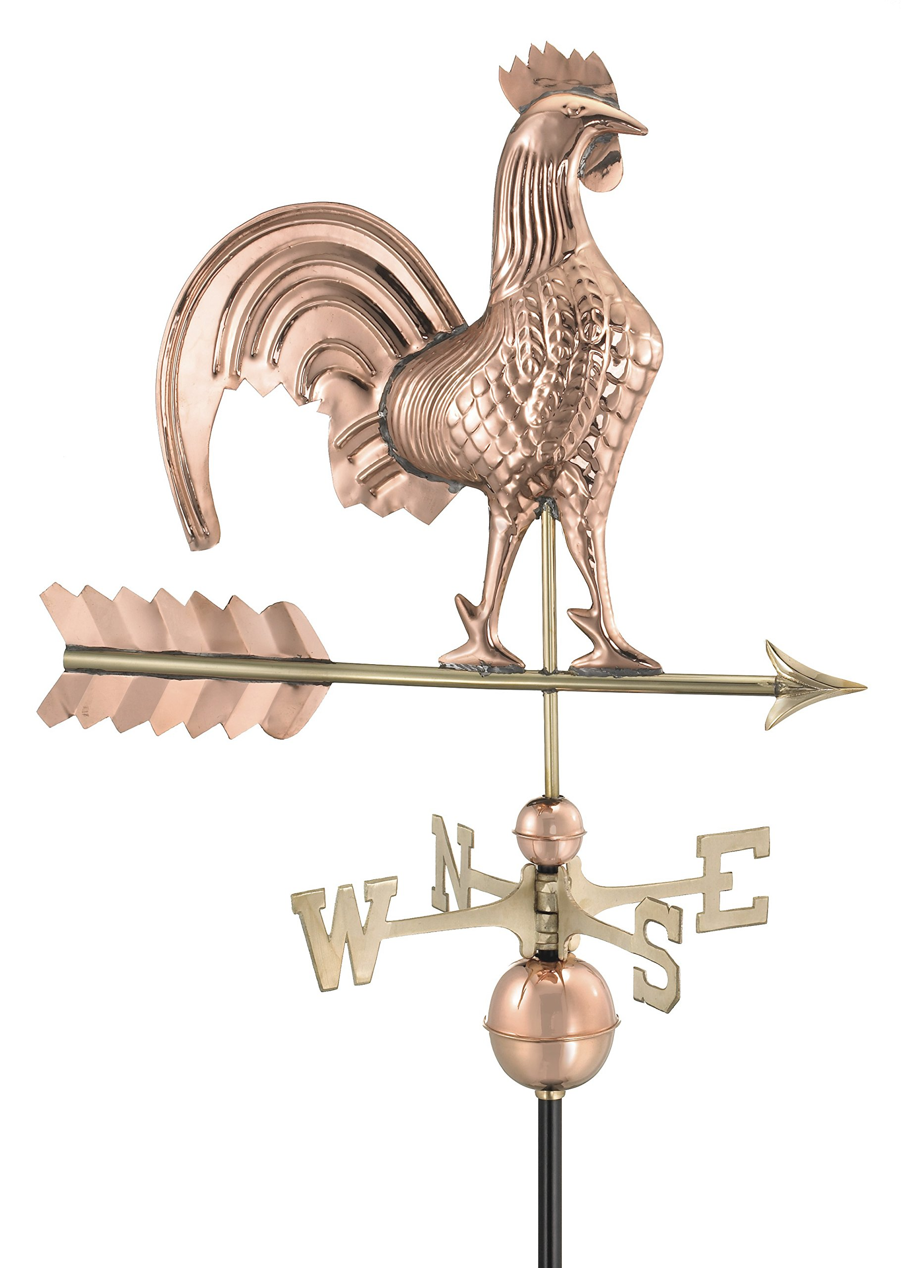 Good Directions Rooster Weathervane, Pure Copper by Good Directions