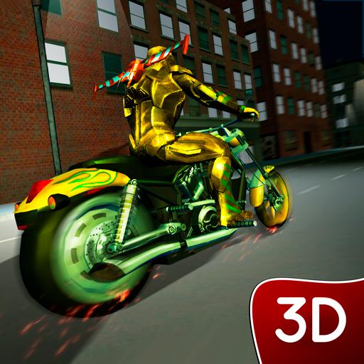 - Superhero Highway Motor Rider: Night City Drag Driving Bike Mayhem