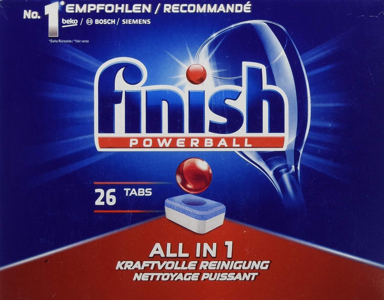 Acabado/Calgonit todo en 1, pastillas para lavavajillas: Amazon.es ...