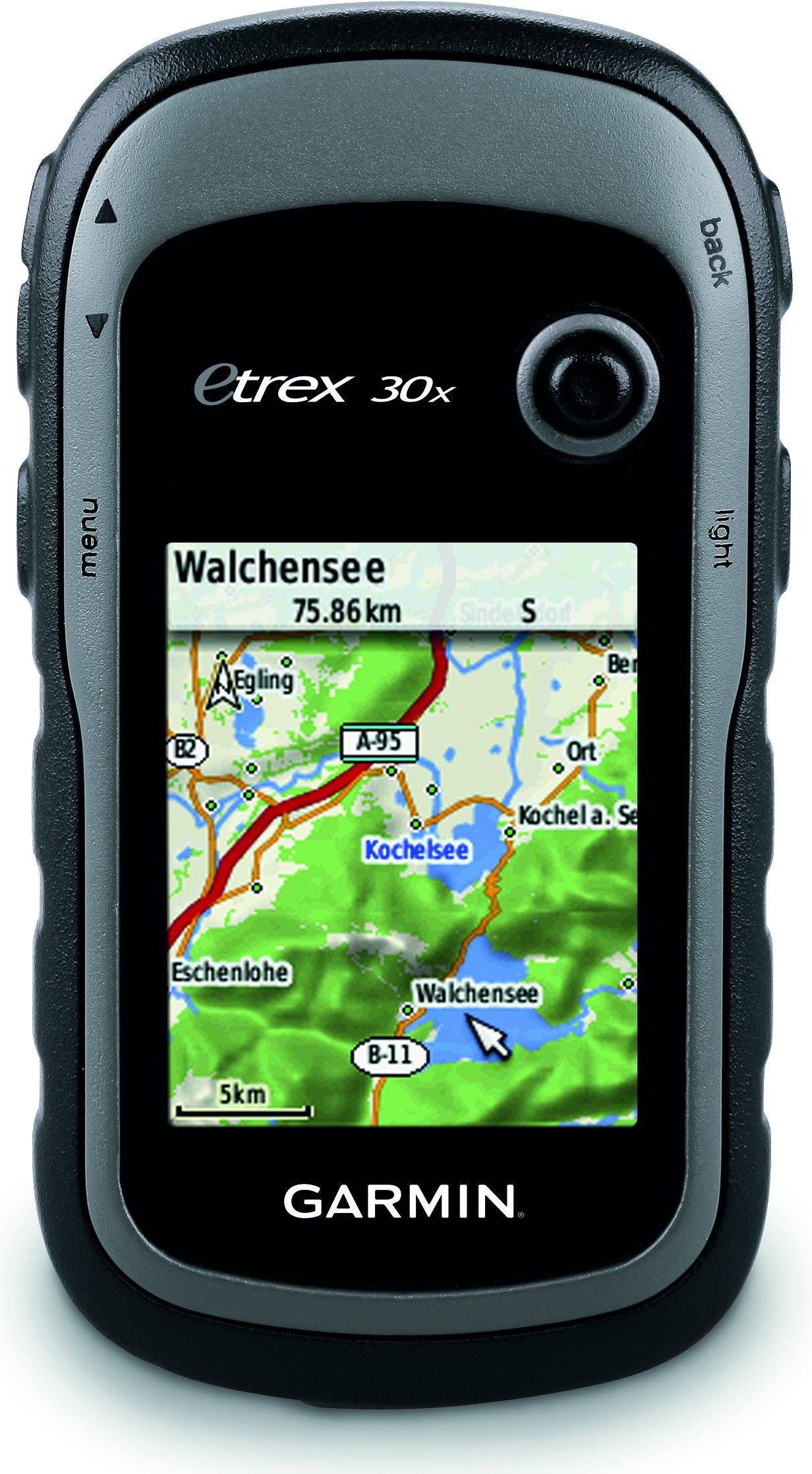 Garmin eTrex 30x - GPS de mano con brújula de tres ejes, pantalla mejorada y