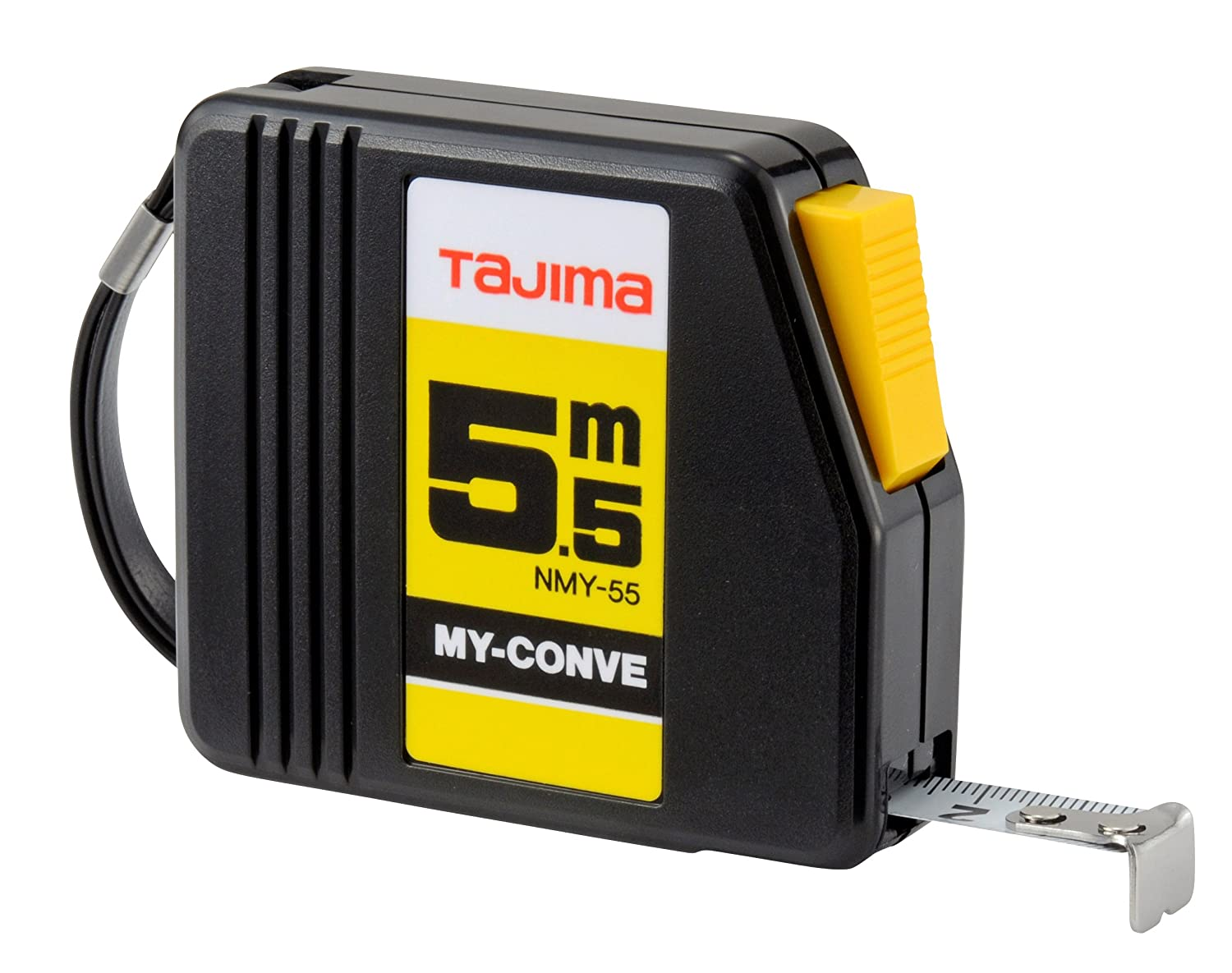 Tajima NMY50MY'My Conve' Measuring Tape with Auto-Stop, Black, 5 m x 13 mm