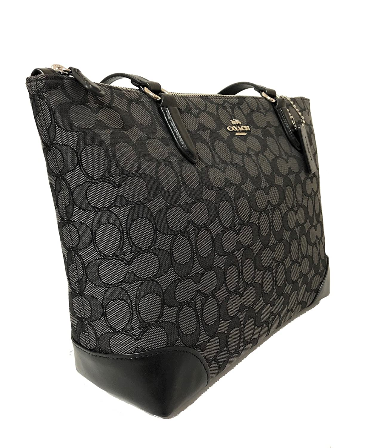 Amazon.com  ZIP TOP TOTE IN SIGNATURE JACQUARD  Shoes 4052e5a505e82