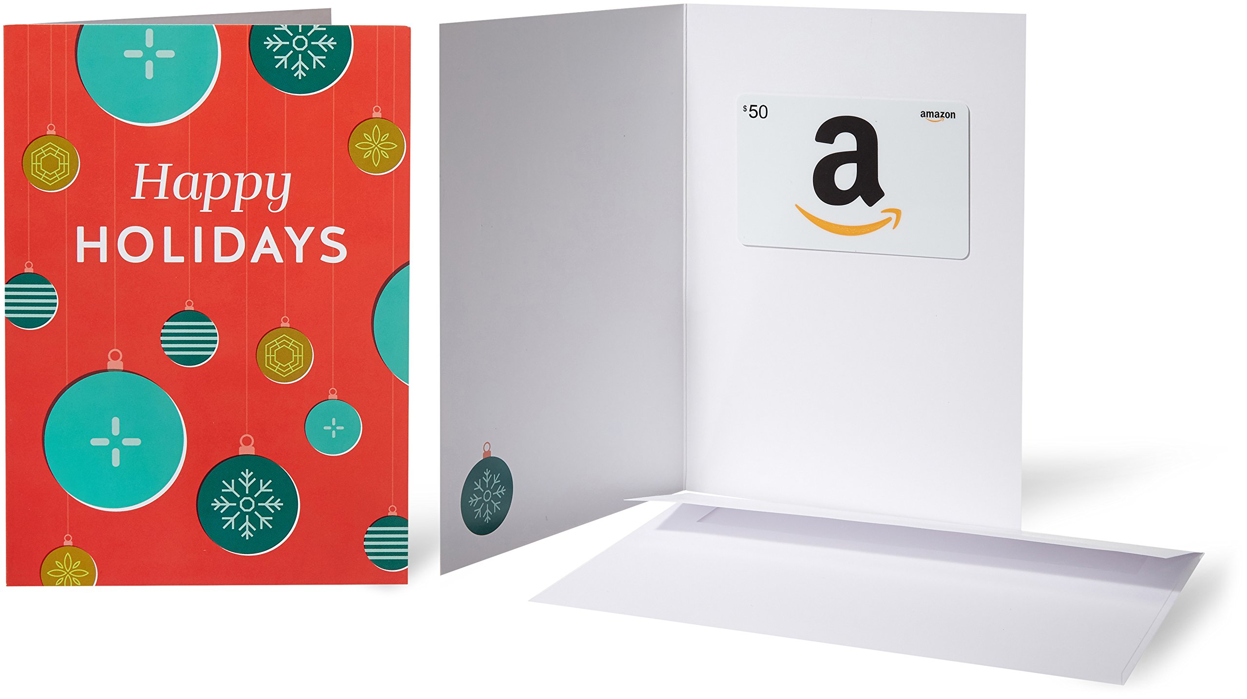 Amazon.com $50 Gift Card in a Greeting Card (Holiday Ornaments) by Amazon
