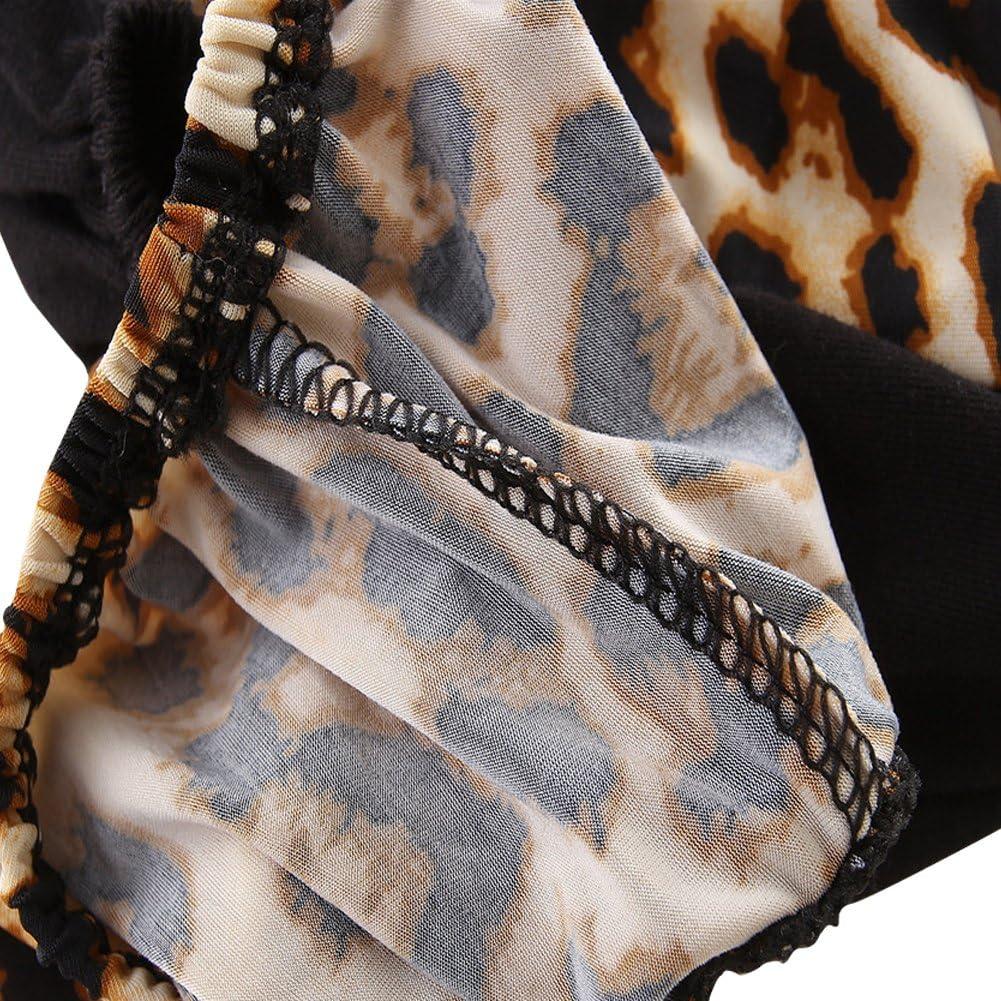 KIDSA 0-2T Baby Girl Pompon Tassel Vest Tank Tops Leopard Print Short Pants Summer Outfits Set