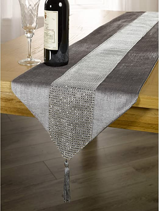 Panache - Mantel/tapete para la Mesa con Detalles de Diamantes y ...