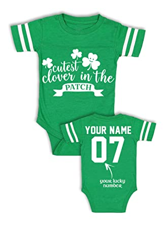 e37078757 Amazon.com: Babies' Custom Saint Patrick's Day Shirts - Add Your Name &  Number - Cotton Jerseys: Clothing