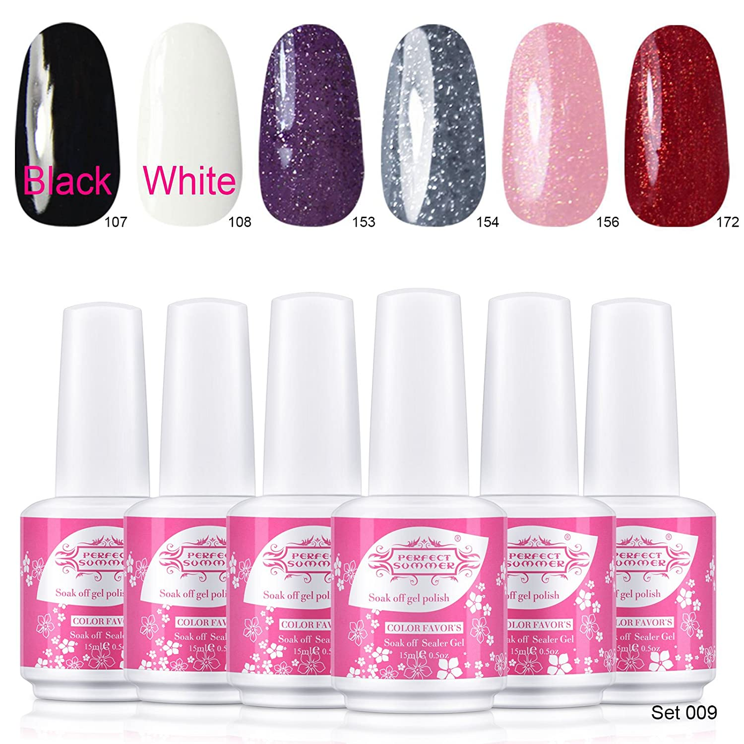 Perfect Summer UV LED Soak Off Gel Nails Polish, Charming French ...