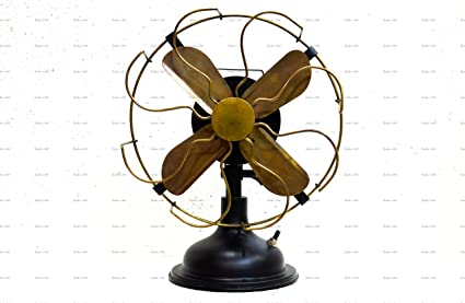 Charmant Sailoru0027s Art Antique Brass Vintage Table Fan ...