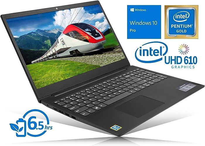 "Lenovo IdeaPad S145 Notebook, 15.6"" HD Display, Intel Dual-Core Pentium 5405U Gold 2.3GHz, 8GB RAM, 256GB SSD, HDMI, Card Reader, Wi-Fi, Bluetooth, Windows 10 Pro"