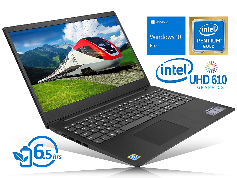 Lenovo IdeaPad S145 Notebook, 15.6 HD Display, Intel Dual-Core Pentium 5405U Gold 2.3GHz, 8GB RAM, 128GB SSD, HDMI, Card Reader, Wi-Fi, Bluetooth, Windows 10 Pro