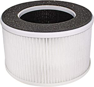 LifeSupplyUSA 3-in-1 HEPA Filter Replacement Compatible with hOmeLabs HME020020N fits Home Compact Ionic Mini Tabletop Air Purifiers