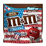 M&M'S 4th of July Red, White & Blue Milk Chocolate Patriotic Candy Party Size 42-Ounce Bag