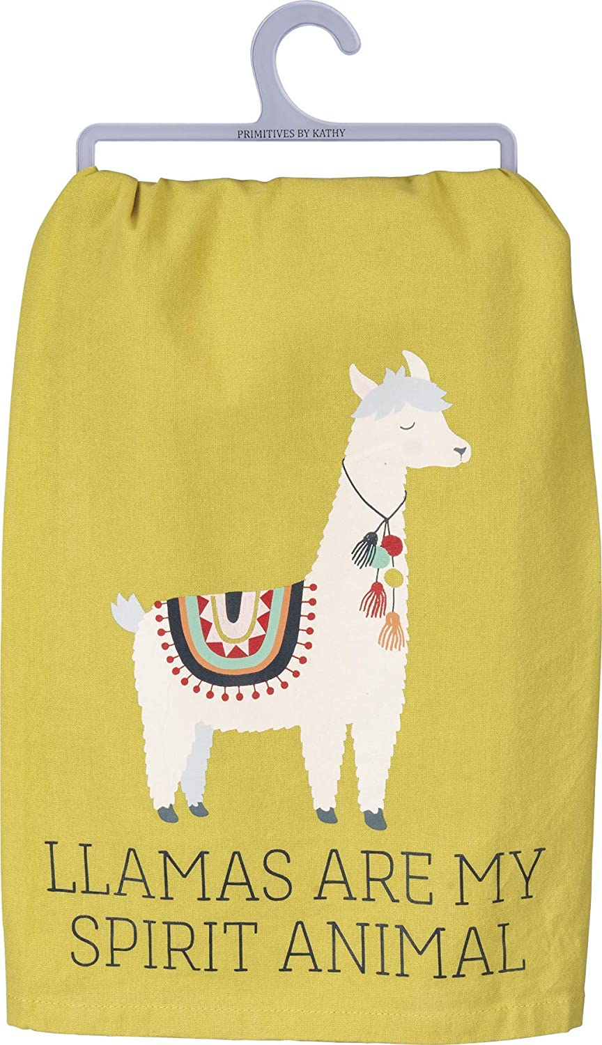 Primitives by Kathy Dish Towel - Llamas Are My Spirit Animal